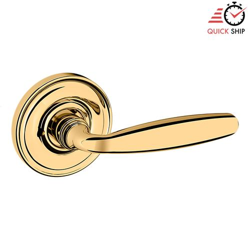Baldwin - Non-Lacquered Brass 5106 Estate Lever with 5048 Rose