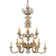 Novella 18 Light Olde Brass Chandelier