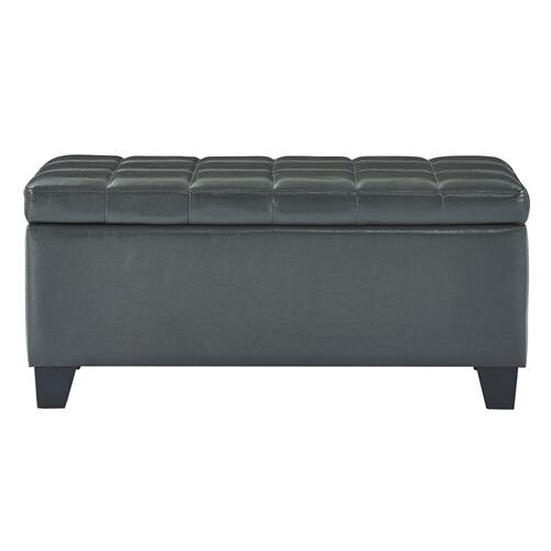 Winston Rectangular Storage Ottoman in Grey