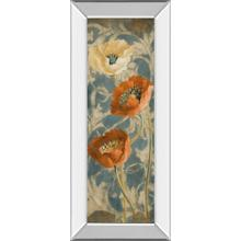 """Poppies De Bleu Il"" By Lanie Loreth Mirror Framed Print Wall Art"
