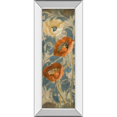 """Poppies De Bleu Il"" By Lanie Loreth Mirror Framed Print Wall Art"