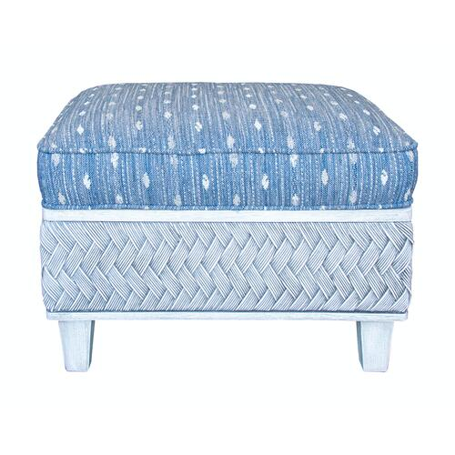 Capris Furniture - Ottoman, Distressed Grey or Distressed White Finish.