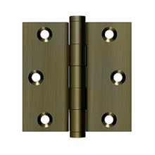"""View Product - 3"""" x 3"""" Square Hinge - Antique Brass"""