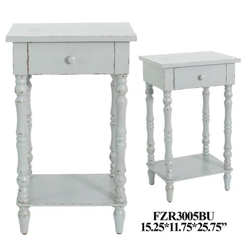 """Product Image - 15.25X11.75X25.75"""" WOOD END TABLE, 2 PCS KD/2.34'"""