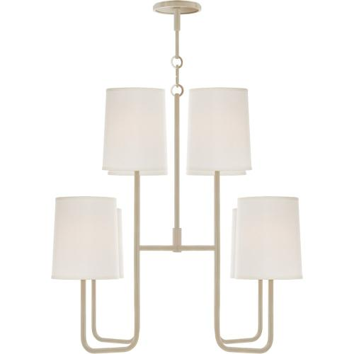 Visual Comfort BBL5081CW-S Barbara Barry Go Lightly 8 Light 31 inch China White Chandelier Ceiling Light
