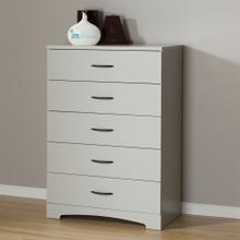 5-Drawer Chest Dresser - Soft Gray