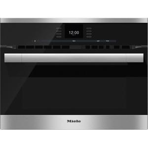 MieleH 6500 BM 24 Inch Speed Oven with combi-modes and Roast probe for precise-temperature cooking.