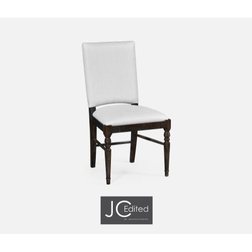 Dake Ale Dining Side Chair, Upholstered in COM
