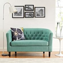Prospect Upholstered Fabric Loveseat in Laguna