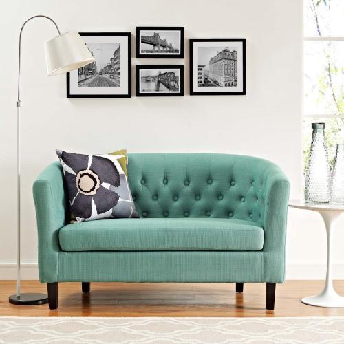 Prospect Upholstered Fabric Loveseat in Laguna