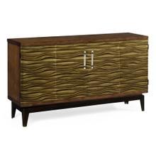 Textured Chestnut Storage Cabinet