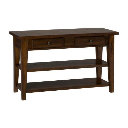 Clay County Oak Sofa/media Table