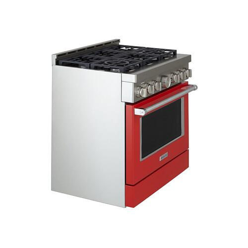 KitchenAid® 36'' Smart Commercial-Style Gas Range with 6 Burners - Passion Red