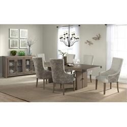 5054 Urban Swag 7-Piece Urban Dining Set (with 6 upholstered chairs)