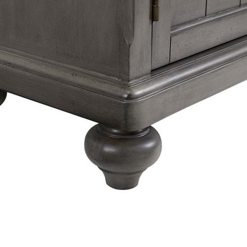 Farmhouse Hall Chest in Gray