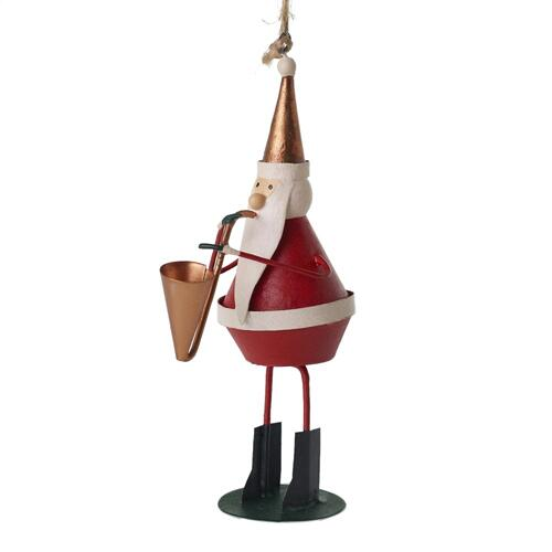 "2.25""x 2.25""x 4.75"" Soul Santa Ornament (Saxaphone Option)"