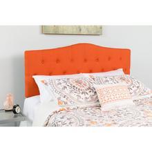 Cambridge Tufted Upholstered Full Size Headboard in Orange Fabric