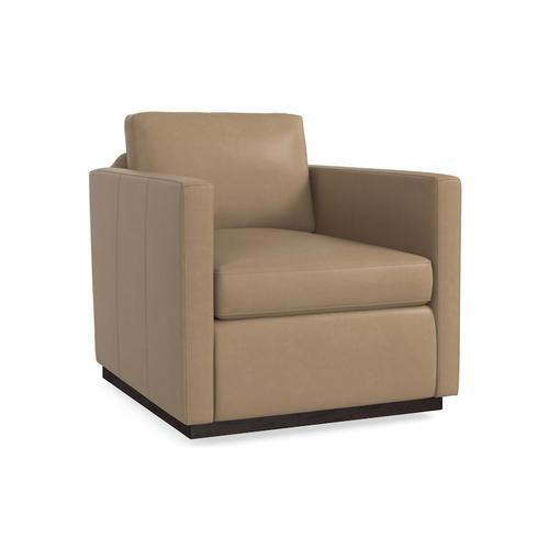 Bassett Furniture - Myles Leather Swivel Chair