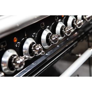 48 Inch Matte Graphite Dual Fuel Natural Gas Freestanding Range