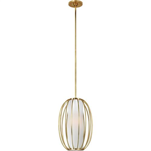 Visual Comfort BBL5008SB-L Barbara Barry Carousel 1 Light 11 inch Soft Brass Lantern Pendant Ceiling Light, Small Oblong