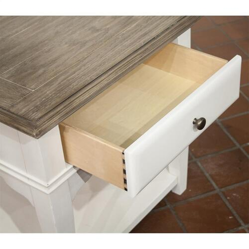 Myra - Leg Side Table - Natural/paperwhite Finish