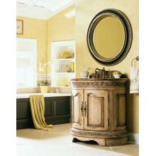 Oval Sink Cabinet