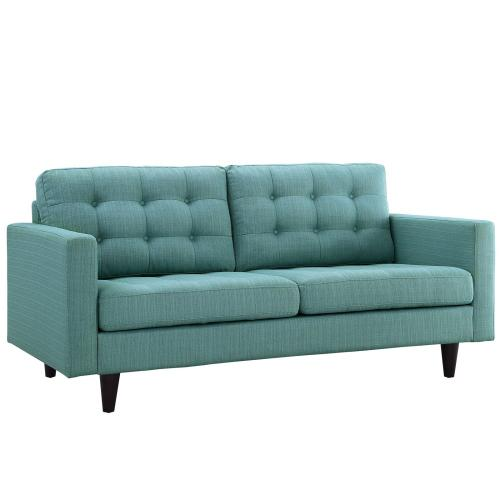 Modway - Empress Upholstered Fabric Loveseat in Laguna