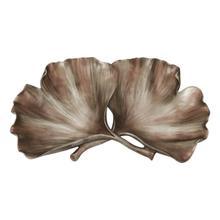 See Details - Resin Ginkgo Leaf Plate, Gold
