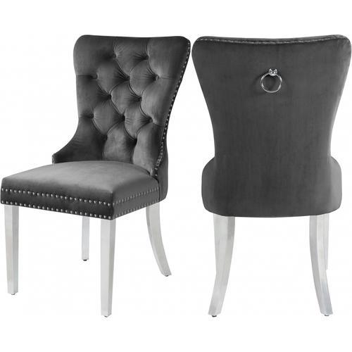 "Carmen Velet Dining Chair - 21.5"" W x 27"" D x 39.5"" H"