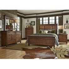 Queen Panel Bed, Dresser & Mirror,Chest, N/S