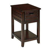 Camille Side Table In Walnut Finish