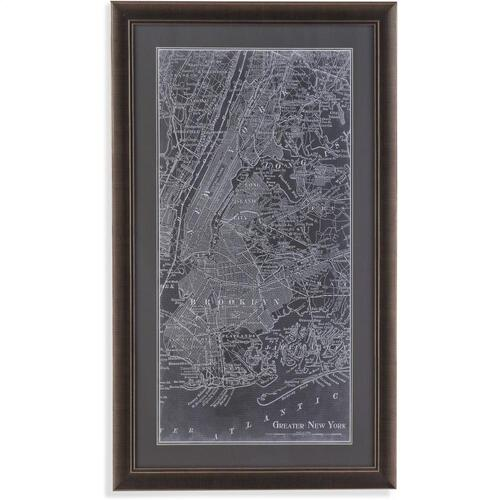 Bassett Mirror Company - Graphic Map of New York