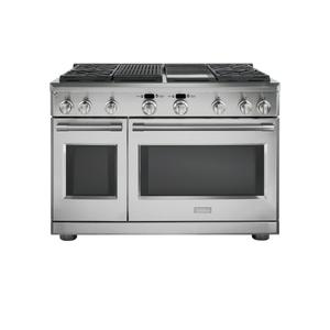 "Monogram  Monogram 48"" Dual-Fuel Professional Range with 4 Burners, Grill, and Griddle (Natural Gas)"