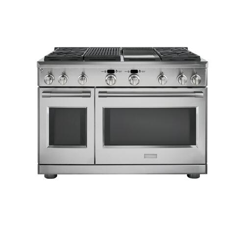 "Monogram 48"" Dual-Fuel Professional Range with 4 Burners, Grill, and Griddle (Natural Gas)"