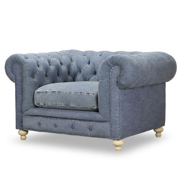 See Details - Greenwich Chair in Desi Blue Denim