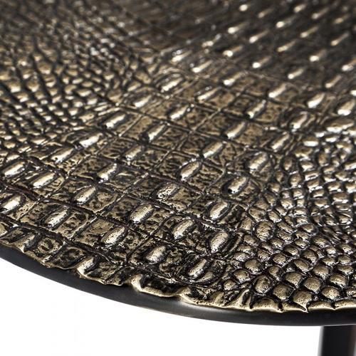 Axel Round Croc Table - Bronze