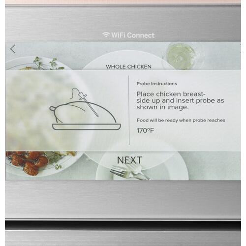 "Café 27"" Smart Double Wall Oven with Convection in Platinum Glass"
