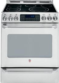 """GE Canada Cafe - 30"""" Slide-In Electric Self Cleaning Convection Range with Baking Drawer"""