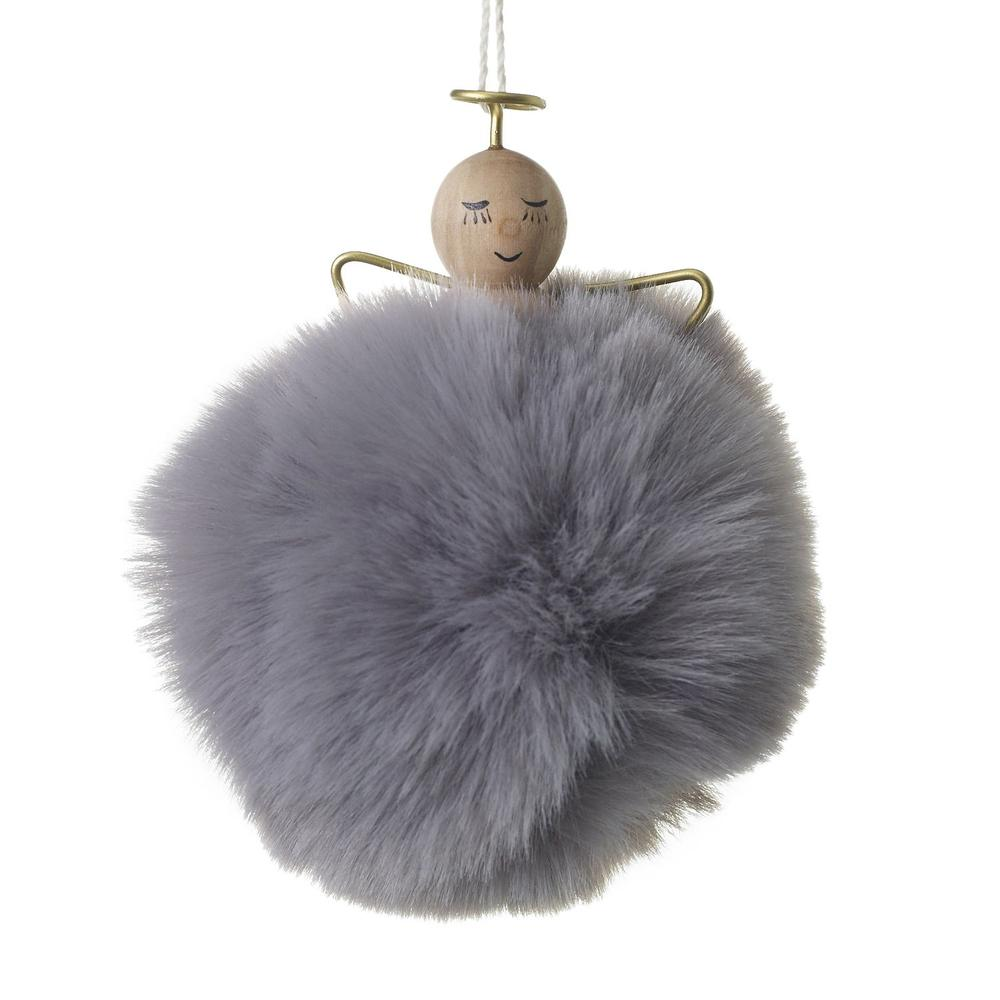 """See Details - Angel Puff Ornament (Size:3"""" x 3.5"""", Color:Grey)"""