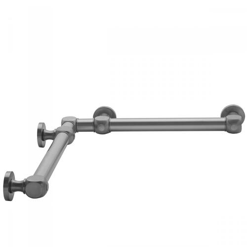 "Satin Nickel - G70 32"" x 32"" Inside Corner Grab Bar"