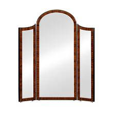 Art Deco Style Full Length Triple Dressing Mirror (Satin)