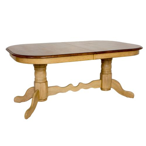 Double Pedestal Extendable Dining Table