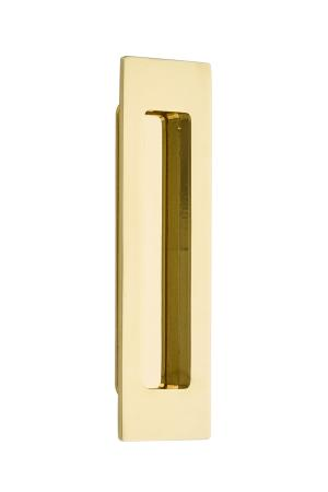 "Flush Pull - Modern Rectangular Brass 6"" Product Image"