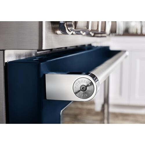 KitchenAid® 48'' Smart Commercial-Style Dual Fuel Range with Griddle - Ink Blue