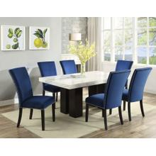 View Product - Camila White Marble Top Rectangular Dining Table(Mix or Match Chairs)