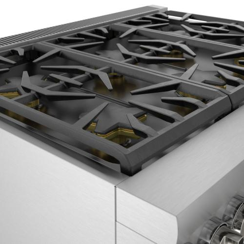 Gas Professional Range 36'' Pro Grand® Commercial Depth Stainless Steel PRG366WG