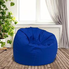 Small Solid Royal Blue Bean Bag Chair for Kids and Teens