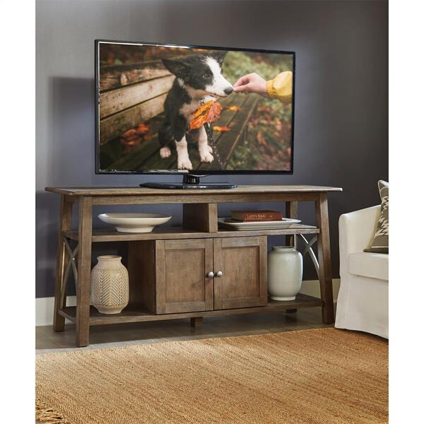 Helmsley - TV Console - Brushed Auburn Finish