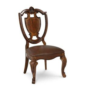 A.R.T. Furniture - Old World- Shield Back Side Chair- Leather Seat