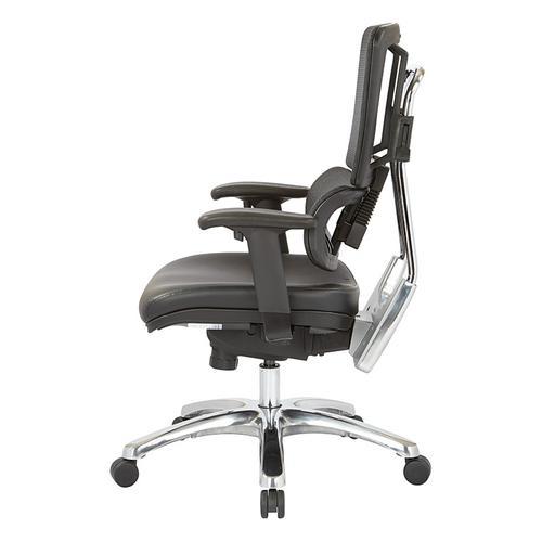 Vertical Black Mesh Chair